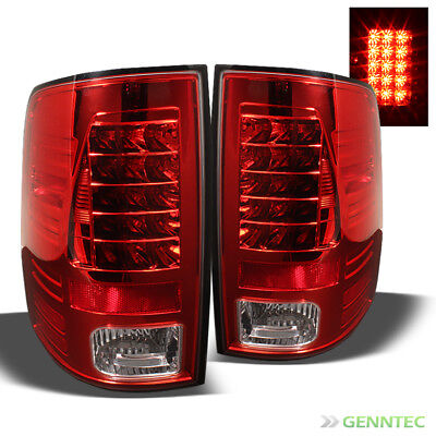 For 2009-2017 Dodge Ram LED Red Tail Lights Lamps Rear Brake Pair Left+Right