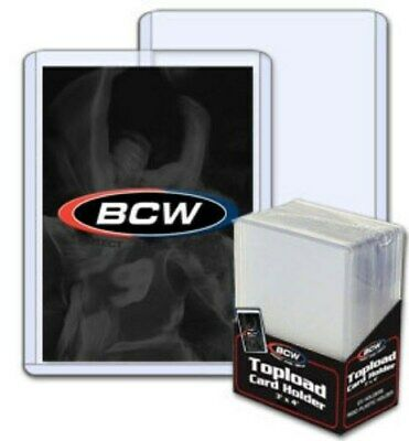 50 BCW Hard Plastic Baseball Trading Card Topload Holders 12 mil rigid protector