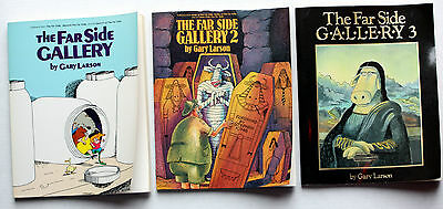 Lot of 3 Comic Strips books – THE FAR SIDE GALLERY by GARY LARSON - Very Good