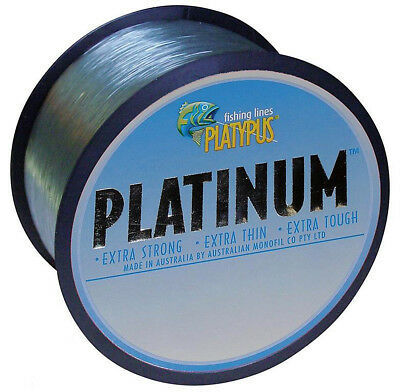 50lb Platypus Platinum Monofilament Fishing Line - 500M - Aussie Made