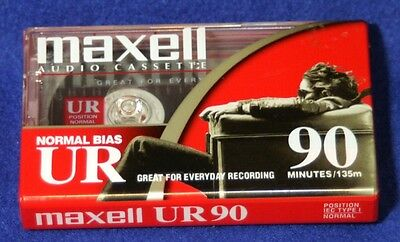 NOS_VINTAGE_ Maxell UR 90 Type 1 Normal Bias BLANK Audio Cassette Tape
