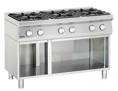 Bartscher 2851061 - Gas stove, 6 burners with open base frame Series 700