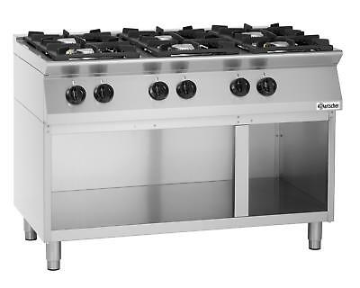 Bartscher 1582101 - Gas stove 6 burners, with open base frame
