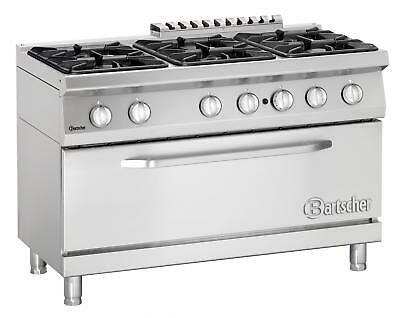 Bartscher 2852261 - Gas stove, 6 burners with large gas oven Series 700