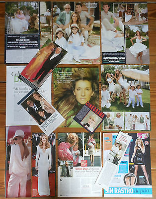 CELINE DION spanish clippings 1990s/10s photos magazine articles pictures