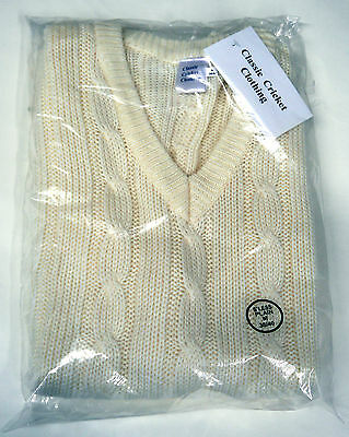 Classic Cricket Sleeveless Knitted Sweater Jumper Adults Small Large XL