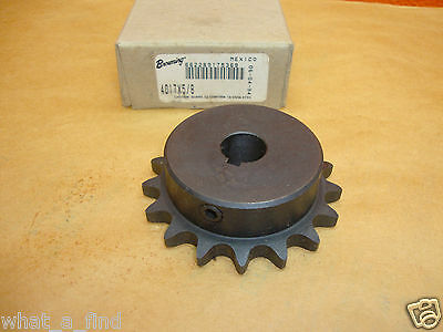 "New Browning 4017X5/8 Roller Chain Sprocket 17 Teeth # 40 Chain 5/8"" bore"