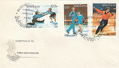 (41463) CLEARANCE Laos FDC Winter Olympics Albertville 1989
