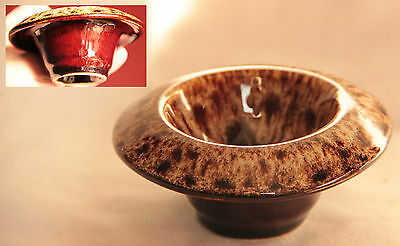 Small Vintage Brown Glaze Bowl - Fosters Pottery, Cornwall