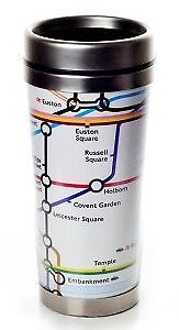 London The Tube Travel Mug Edelstahl U-Bahn,Underground Coll.,Great Britain