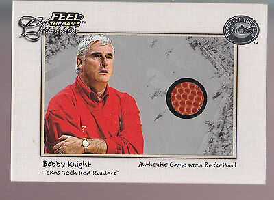 2001 Fleer Greats Of The Game Authentic Game-used Basketball Ball Bobby Knight