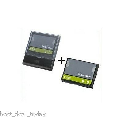 OEM Blackberry D-X1 Battery+Charger For Storm 2 II 9550