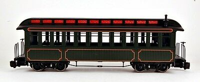 Bachmann G Scale Train (1:22.5) Unlettered Olive Passenger Car 89399