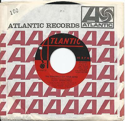 DUSTY SPRINGFIELD * 45 * The Windmills Of Your Mind *1969 #31 MINT Steve McQueen