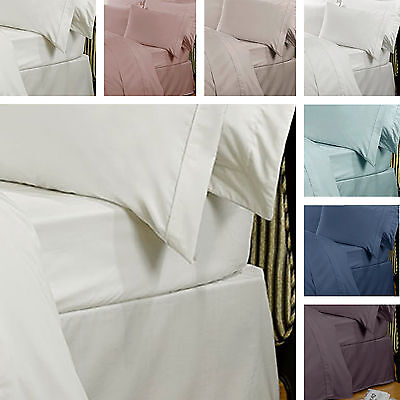 Highams Luxury 100% Egyptian Cotton 230 Thread Count Bedding Fitted Bed Sheet