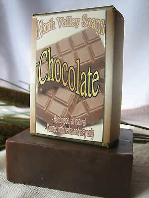 Chocolate Handmade SOAP, rich lather, natural