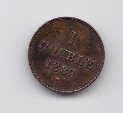 Guernsey  1889  1 Double  Br  Xf-