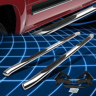 "4"" OVAL TUBE SIDE STEP BAR RUNNING BOARD FOR 99-13 SILVERADO/GMC EXTENDED CAB"