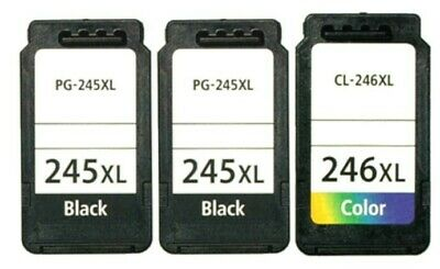 3 PACK PG245 CL246 XL Black Color Ink For Canon PIXMA MG2920 MG2922 MG2924 MX492