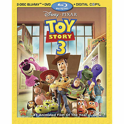 Toy Story 3 (Blu-ray/DVD, 2010, 4-Disc Set) w/slipcover