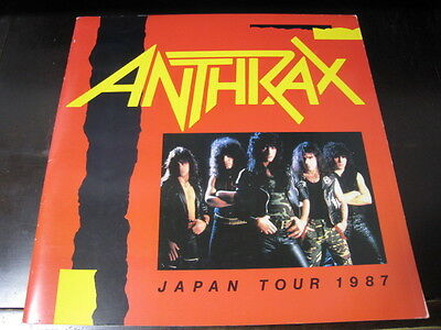 Anthrax 1987 Japan Tour Book Concert Program with Taped Ticket Stub Flyer