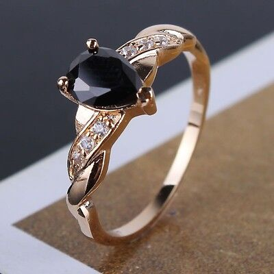 lady ring 18k gold filled creative design charm fit citrine lady ring Sz5-Sz9