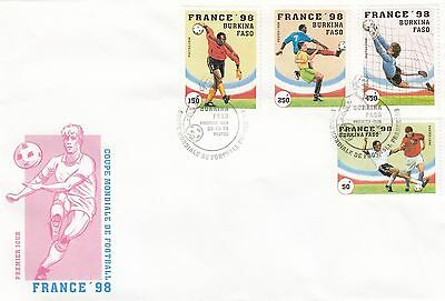 (41520) CLEARANCE Burkina Faso FDC Football World Cup France 20 Oct 1996