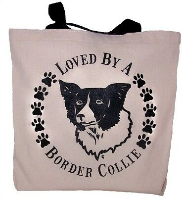 Loved By A Border Collie Tote Bag New  MADE IN USA