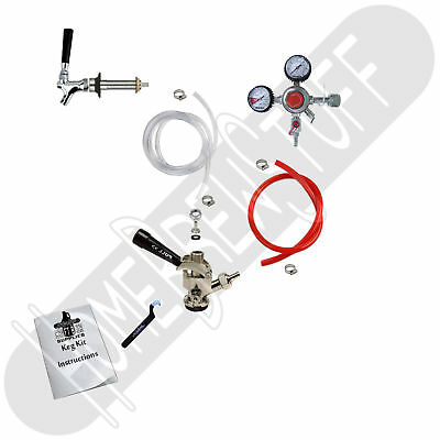 Kegerator Conversion Kit 1 Chrome Plated Faucet ProRegulator Homebrew Draft Beer