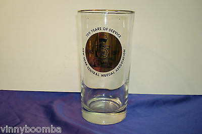Vintage 1969 New York Central Mutual Assoc. Insurance Glass Tumbler Railroad Ad