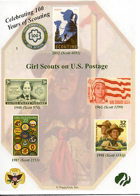 "TEN (10) GIRL SCOUTS 100 Years of SCOUTING PLAIN 5"" x 7"" Cards"