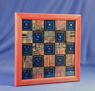 "ChipScapes - ""One Power Puzzle"" - Mixed media artworks based on IBM PowerPC"