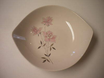 Taylor Smith & Taylor (TS&T) Oval Rose Vegetable / Serving Bowl, 8 3/4 inch
