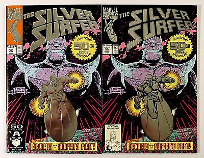 The Silver Surfer #50 1St & 2Nd Print Marvel 1991 (Nm)