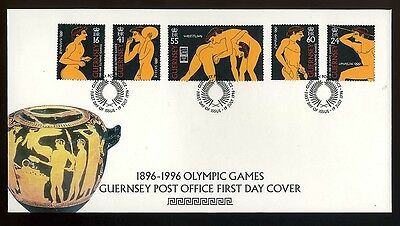 1996 Guernsey First Day Cover - Olympic games