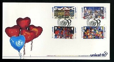 1995  Guernsey First Day Cover  - Christmas Unicef