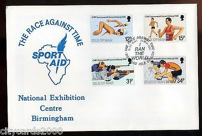 1986  Isle of Man Commonwealth Games COTSWOLD Sport Aid Cover   Douglas H/S