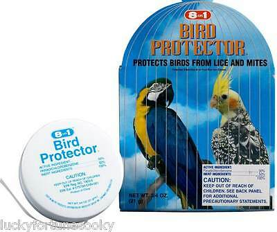 8n1 MITE & LICE BIRD Cage PROTECTOR .75oz for Large Birds Parrot Conure Grey