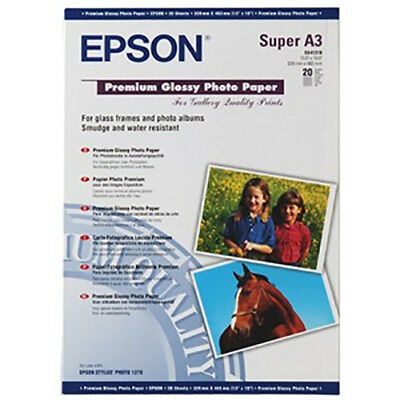 Epson Paper S041316 Premium Glossy Photo Paper 255g/m² 20 Sheets A3+