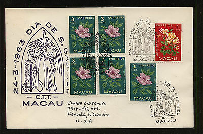 Macau  372  and  373 (5)    on  cachet  cover          RG0919