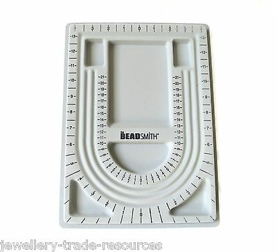 "The Beadsmith Beaders Bead Board Tray for Jewellery Making (Approx 9.5"" x 13"")"