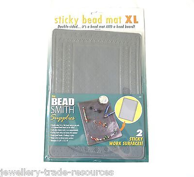 "BEADSMITH 8"" x 12"" STICKY BEAD MAT XL BEADING & JEWELLERS BENCH WORK MAT"