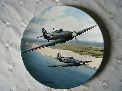 Doulton Roy Huxley Heroes Over Home Territory Hurricane White Cliffs Plate
