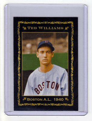 1940 Ted Williams Boston Red Sox, rookie season limited edition, only 200 exist