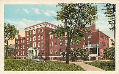 RICHMOND, Indiana  IN   EARLHAM COLLEGE  Earlham Hall  ca 1920s Postcard