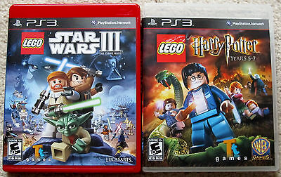 PS3 Game Lot - LEGO Star Wars III (Used) LEGO Harry Potter Years 5-7 (Used)