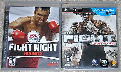 PS3 Game Lot - The Fight Lights Out PS Move Required (Used) Fight Night Round 3