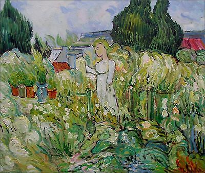 Van Gogh Gachet in the Garden Repro, Hand Painted Oil Painting 20x24in