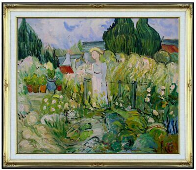 Framed Hand Painted Oil Painting Repro Van Gogh Gachet in the Garden 20x24in