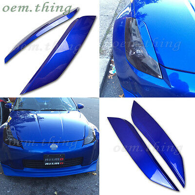PAINTED Color #B17 FOR 350 Z Fairlady Z 2D Coupe Eyelids Headlight Cover ABS